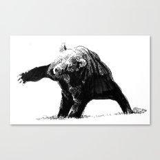 The Big Bad Bear by Chuchuligoff Canvas Print