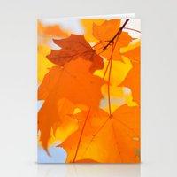 Yellow-orange Autumn Stationery Cards