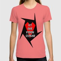 Let our vision expand Womens Fitted Tee Pomegranate SMALL