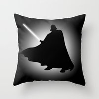 Vader Sithouette (B/W) Throw Pillow