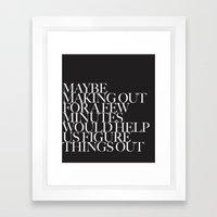 LETS MAKE OUT! Framed Art Print