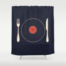 Vinyl Food Shower Curtain