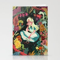 elephant Stationery Cards featuring Alice in Wonderland by Karl James Mountford