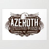 Azerothian Aviators Art Print