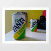 Fanta Soda  Art Print