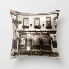 The Mayflower Pub London… Throw Pillow