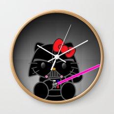 Dark Kitten Wall Clock
