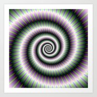 Coiled Spiral In Green A… Art Print