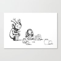Ghost collectors Canvas Print