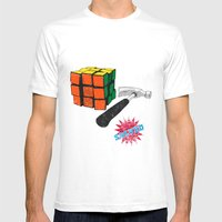 Solved ! Mens Fitted Tee White SMALL