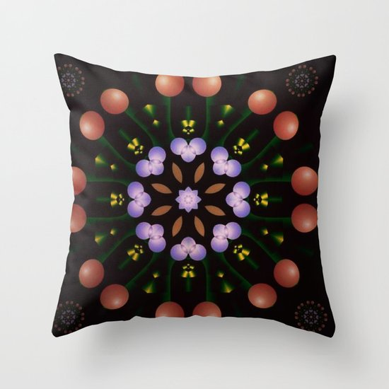 Bobbles Throw Pillow