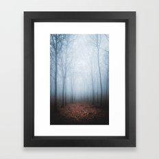 Blue Fog Framed Art Print