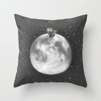Lost In A Space / Moonel… Throw Pillow