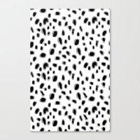 Spots Blouse Pink Belt Canvas Print