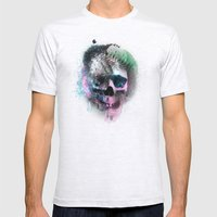A Skull Mens Fitted Tee Ash Grey SMALL