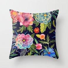 Cosmic Florals Throw Pillow