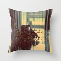Candle Holder Throw Pillow