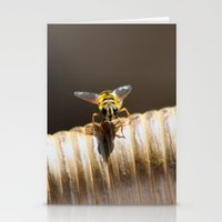 bee Stationery Cards featuring BEE by Avigur