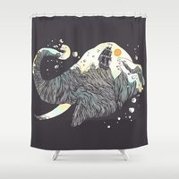 The Grey Gust And The Sa… Shower Curtain