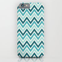 Indie Spice: Turquoise Chevron iPhone 6 Slim Case