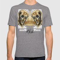 dead head Mens Fitted Tee Tri-Grey SMALL