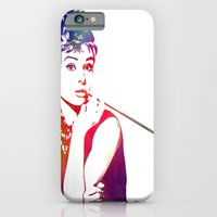 iPhone & iPod Case featuring Audrey Hepburn Breakfast at Tiffany's by D77 The DigArtisT