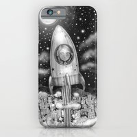 Running Away From Home In A Rocket Ship iPhone 6 Slim Case