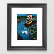 La chute Framed Art Print