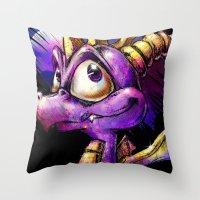 Spyro the Dragon Throw Pillow