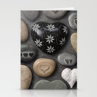 HEARTS AND STONES Stationery Cards