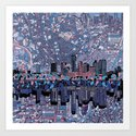austin texas city skyline Art Print