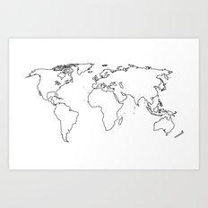 WORLD II Art Print