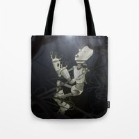 Praying to the Lord of the Universe Tote Bag