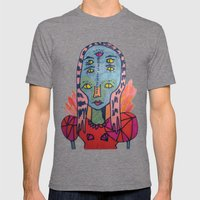 ALIEN QUEEN Mens Fitted Tee Tri-Grey SMALL