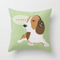 Somebody Put Something On My Head Throw Pillow