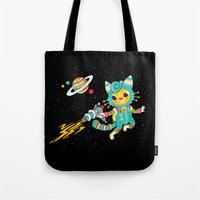 Kitty Cat Space Captain Tote Bag