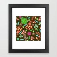 Bright Floral Fantasy Framed Art Print