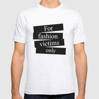 For Fashion Victims Only Mens Fitted Tee Ash Grey SMALL