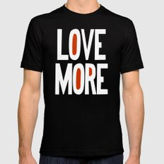 Love More Mens Fitted Tee SMALL Black