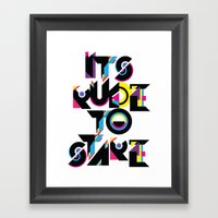 It's Rude To Stare Framed Art Print