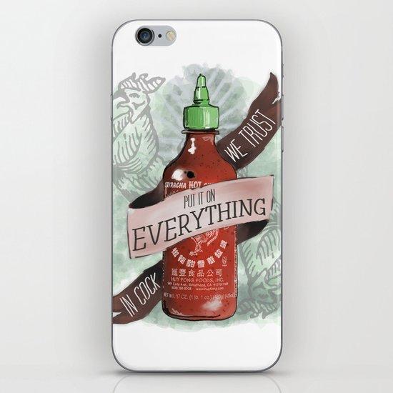An Ode To Sriracha iPhone & iPod Skin
