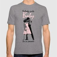 Dirty Dancing Mens Fitted Tee Tri-Grey SMALL