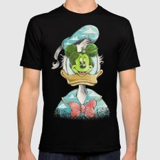 duck magritte Mens Fitted Tee SMALL Black
