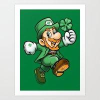 Lucky Mario Art Print