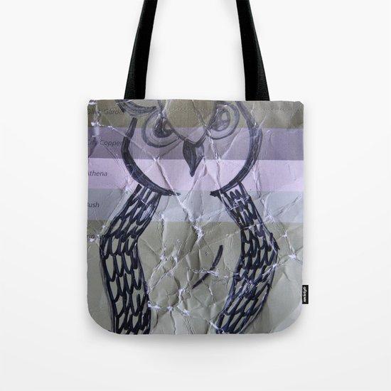 olive owl Tote Bag