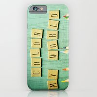 iPhone Cases featuring Color My World by Olivia Joy StClaire