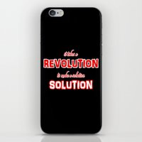It Takes A Revolution To Make A Solution iPhone & iPod Skin