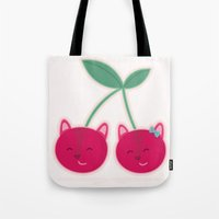 Cherry kitties Tote Bag