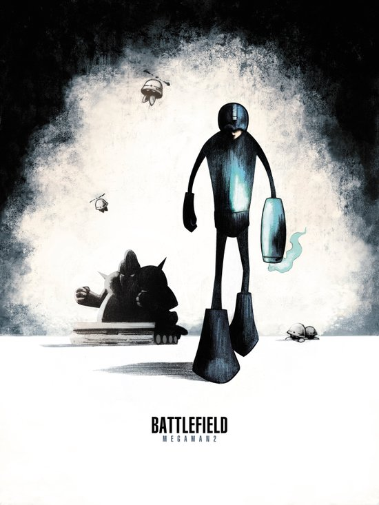 Battlefield - Megaman 2 Canvas Print