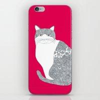 Pink-Cat iPhone & iPod Skin